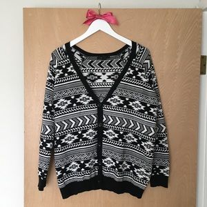 Forever 21 Oversized Tribal Cardigan